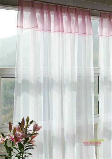 concealed tab top princess white sheer voile curtain