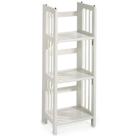 White Open Bookcase by Casual Home White Folding Stacking Open Bookcase 331 31