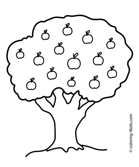 tree  face coloring pages  preschoolers collection