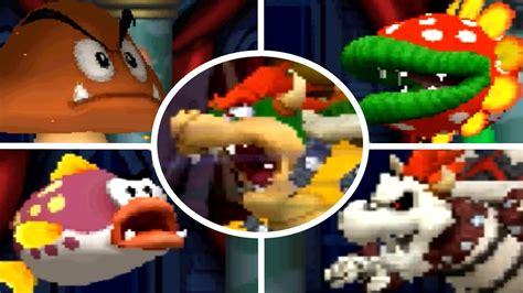 New Super Mario Bros Ds All Castle Bosses Youtube