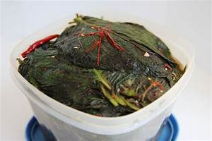 Korean Food Photo  Kkaennip Jangajji  Pickled Perilla Leaves