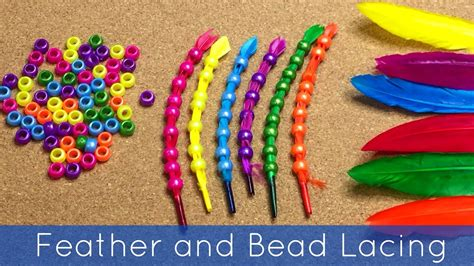 feather and bead lacing motor activity for preschool 125 | maxresdefault
