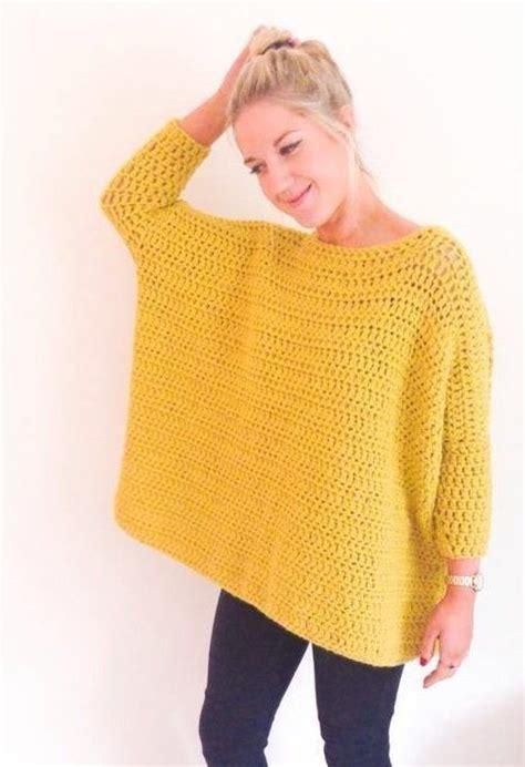 how to crochet a sweater 25 best crochet pullover pattern ideas on