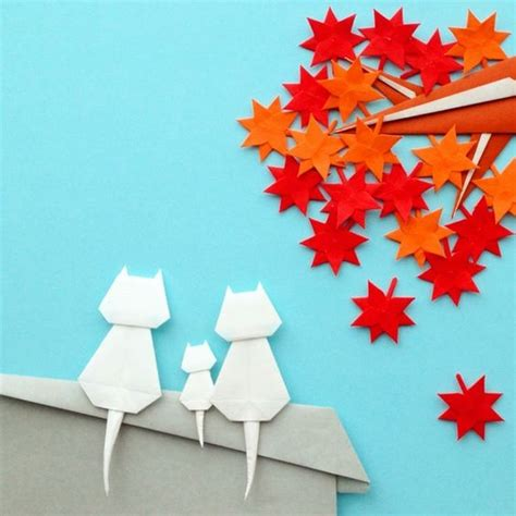 ide ide membuat hiasan dinding  origami sakti desain
