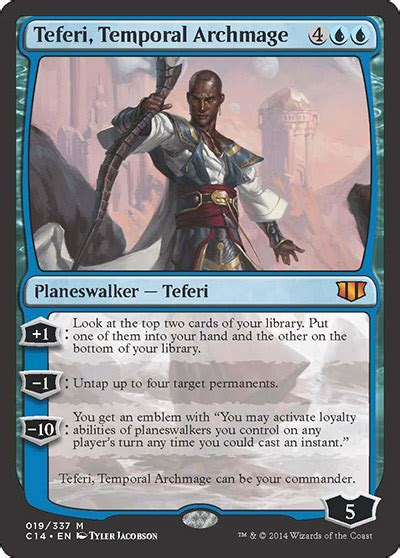 Teferi Commander Deck by Teferi Temporal Archmage From Commander 2014 Spoiler