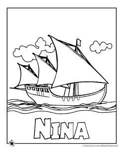 Barcos De Cristobal Colon Dibujos by Carabelas De Cristobal Colon Para Colorear