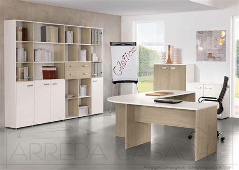 mondoffice scrivanie mobili per ufficio completo componibili legno chiaro