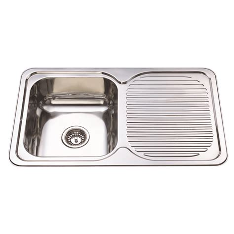 kitchen sink bunnings project forte sink bowl 800x500mm 1 bowl 1 drainer 2597