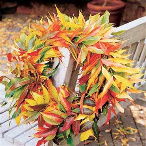 fall leaves decor handmade door wreaths offering great craft ideas and cheap fall decorations