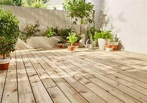 Installer Une Terrasse En Bois : pr parer l installation d une terrasse en bois castorama ~ Farleysfitness.com Idées de Décoration