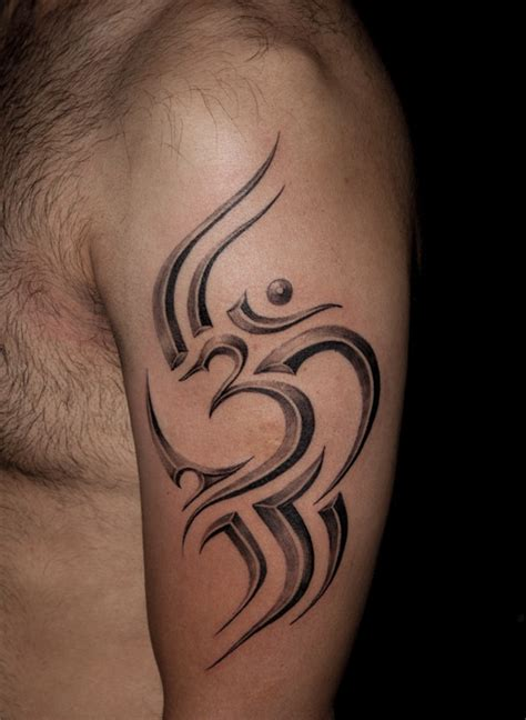tattoos designs pictures  ideas tribal om tattoo  bicep