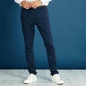 Pantalon Bleu Marine Homme : pantalon chino skinny homme bleu marine kiabi 10 00 ~ Melissatoandfro.com Idées de Décoration