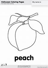 Coloring Peach Pages Simple Super sketch template