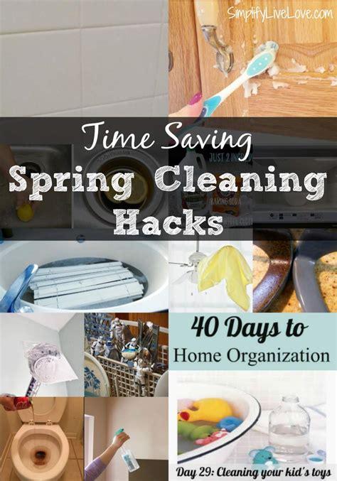 time saving spring cleaning hacks  printable
