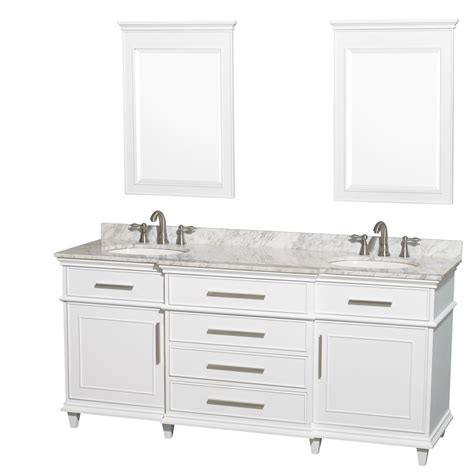 Ackley 72 Inch White Finish Double Sink Bathroom Vanity