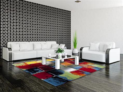 code promo but canapé tapis moderne et multicolore de salon bahia