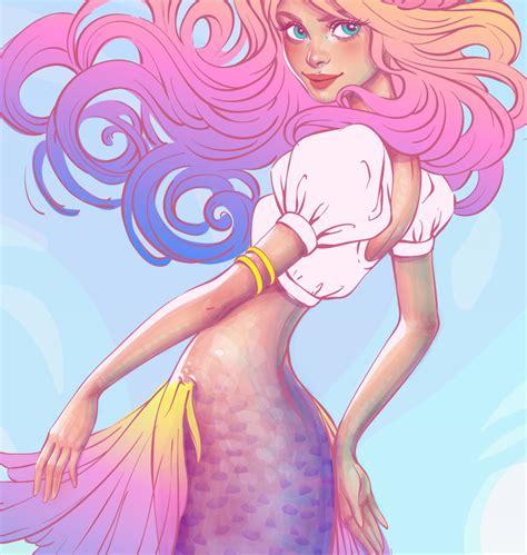 create  watercolor mermaid illustration  adobe