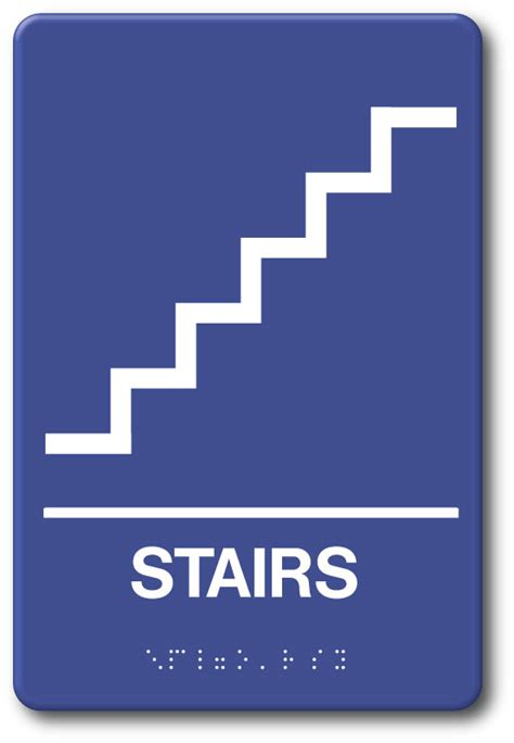 stairs sign    plastic  tactile ii braille