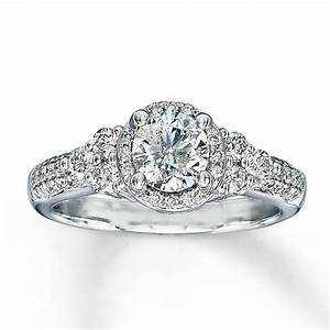 Jared 14k white gold 1 1 8 carat tw diamond engagement for Jareds jewelry wedding rings