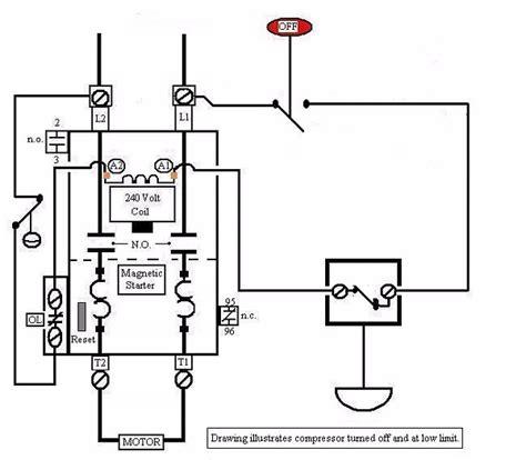 air compressor motor starter wiring diagram elec eng world