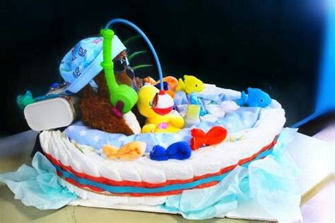 Diy Fishing Boat Diaper Cake by Fishing Boats Diaper Cakes And Fishing On Pinterest
