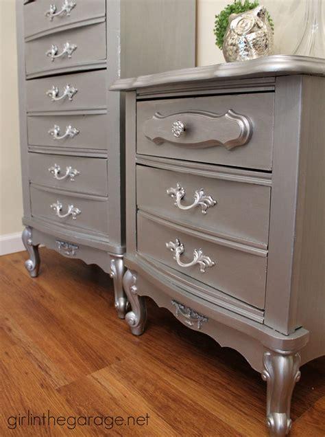 faux  fab metallic furniture makeover  modern