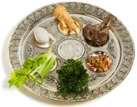 traditional seder plate passover pesach