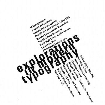 explorations in modern typography