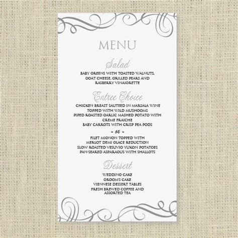 wedding menu card template  instantly edit