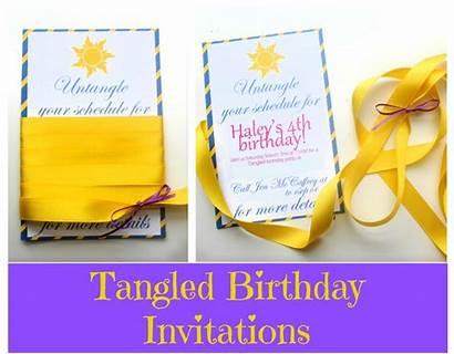 Tangled Birthday Party Rapunzel Invites Invitations Invitation