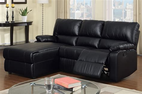 black leather sectional sofa with recliner black leather reclining sectional products homesfeed