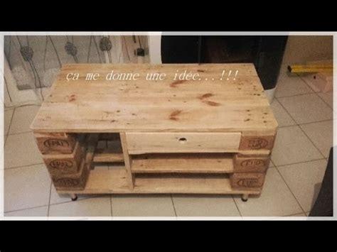 meuble palette bois atelier 1 r 233 alisation d un meuble tv en bois de palette