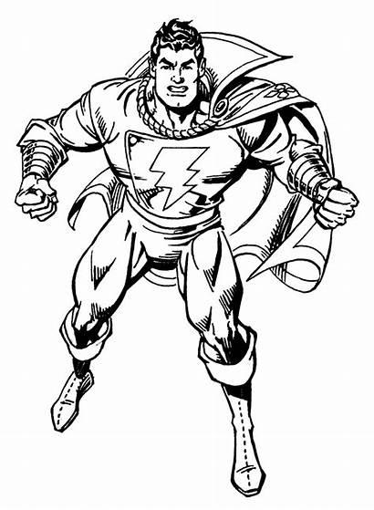 Coloring Shazam Pages Dc Comics