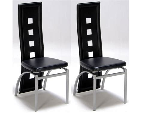 chaise design noir lot de 2 chaises design noir meubles de salon