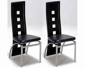 Chaise De Salon Design : lot de 2 chaises design noir meubles de salon ~ Teatrodelosmanantiales.com Idées de Décoration