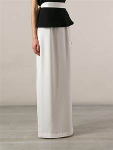 Lyst - Raoul Long Pencil Skirt in White