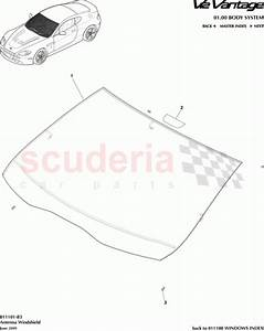 Aston Martin 6g33-c03102-a-p1a04  Foam Strip Front Windshield - V8 Coupe