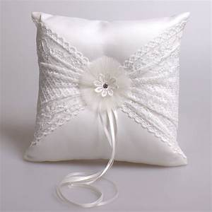 aliexpresscom buy white lace ring pillow satin With wedding ring holder pillow