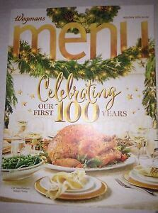Wegmans is extremely busy during the holidays as people tend to cook they aren't always open on the actual holidays during the year so check out the wegmans holiday. Wegmans Menu Magazine Our First 100 Years Holiday 2016 ...
