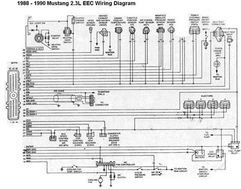 1990 mustang wiring diagram ford mustang 1988 1990 2 3l eec wiring diagram all about