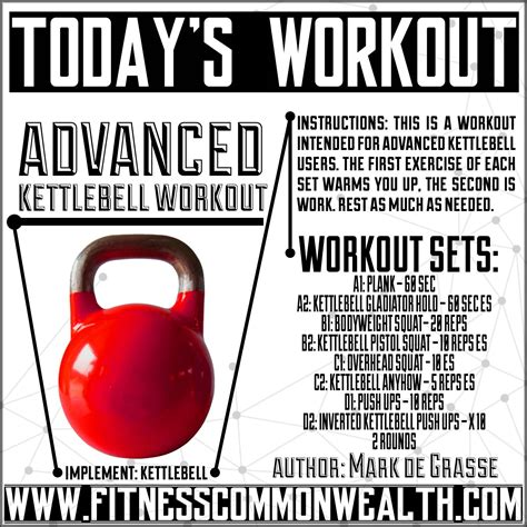 kettlebell workout workouts advanced ab work rest lower exercise kettlebells second intended much conditioning calisthenics warms users each abs needed