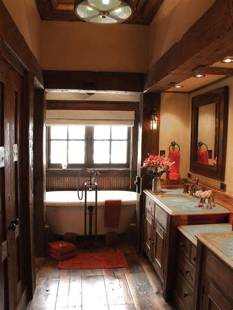 rustic bathroom decor ideas pictures tips  hgtv hgtv