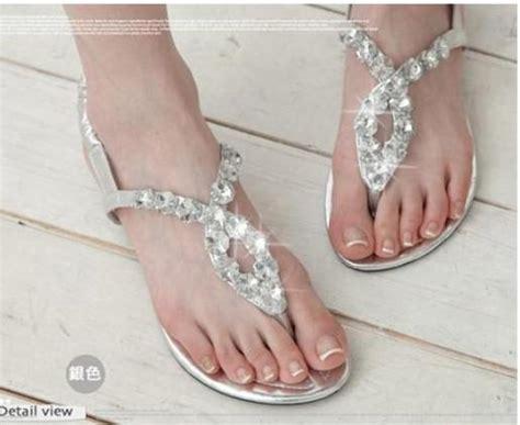 fashion women lady large size flat heels diamond