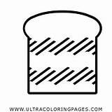 Loaf Bread Coloring sketch template