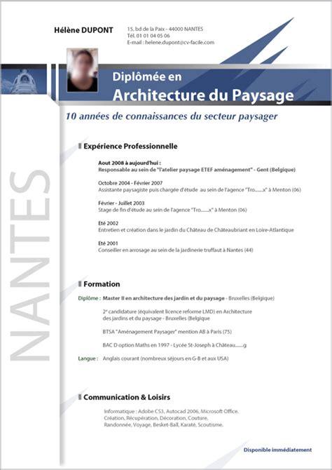 modele cv architecte cv anonyme