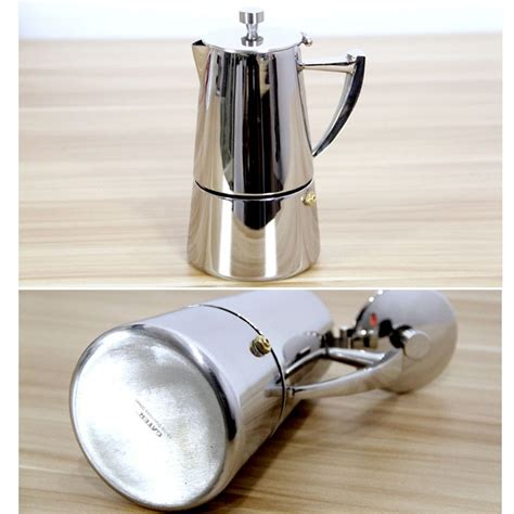 The stovetop espresso maker is appreciated by coffee lovers because it is able to respect the aromatic richness of the ground coffee that you use. Stainless Steel 4-Cup Stovetop Espresso Maker-A - ESGREEN ESGREEN-Enjoy / Slow / Green