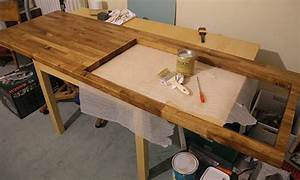 Plan De Travail Cuisine En Bois : peindre un plan de travail de cuisine comment peindre ~ Melissatoandfro.com Idées de Décoration