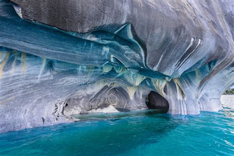 marble caves  lake general carrera chile stock photo