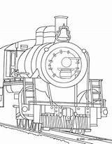 Coloring Steam Train Engine Locomotive Drawing Getcolorings Printable Getdrawings Hellokids Engines sketch template