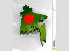 3d Flag Map Of Bangladesh Royalty Free Stock Image Image